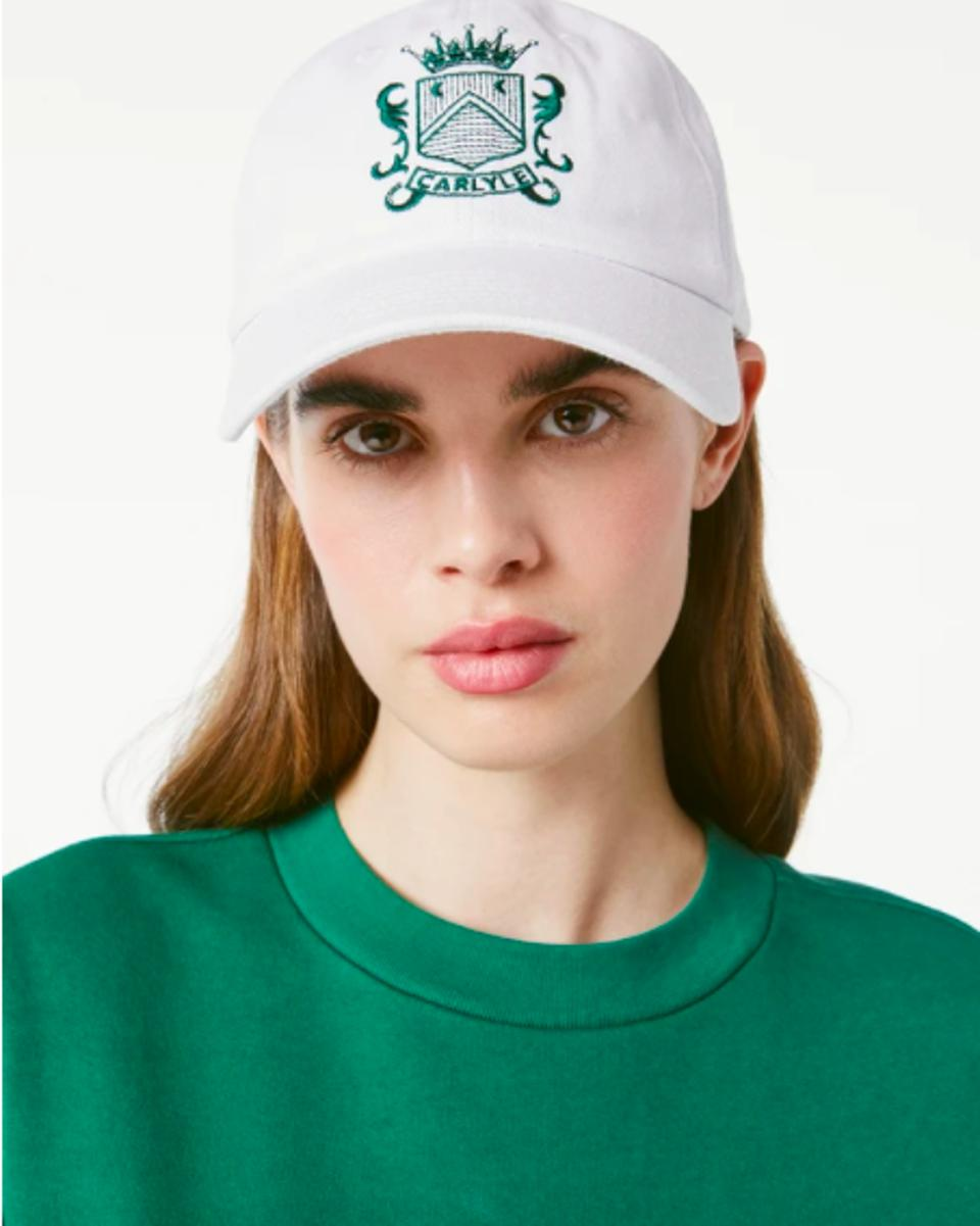The baseball cap from the Carlyle's collaboration with Frame.