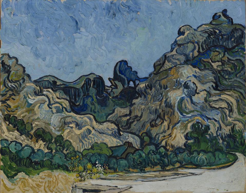 Vincent van Gogh, Mountains at Saint-Rémy (Montagnes à Saint-Rémy), July 1889, oil on canvas, 71.8 x 90.8 cm, Solomon R. Guggenheim Museum, Thannhauser Collection, Gift, Justin K. Thannhauser