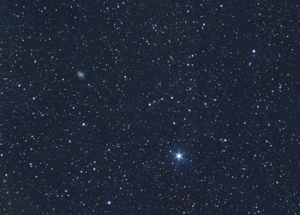 Comets, nebulae, and other objects are not readily distinguishable in small telescopes.