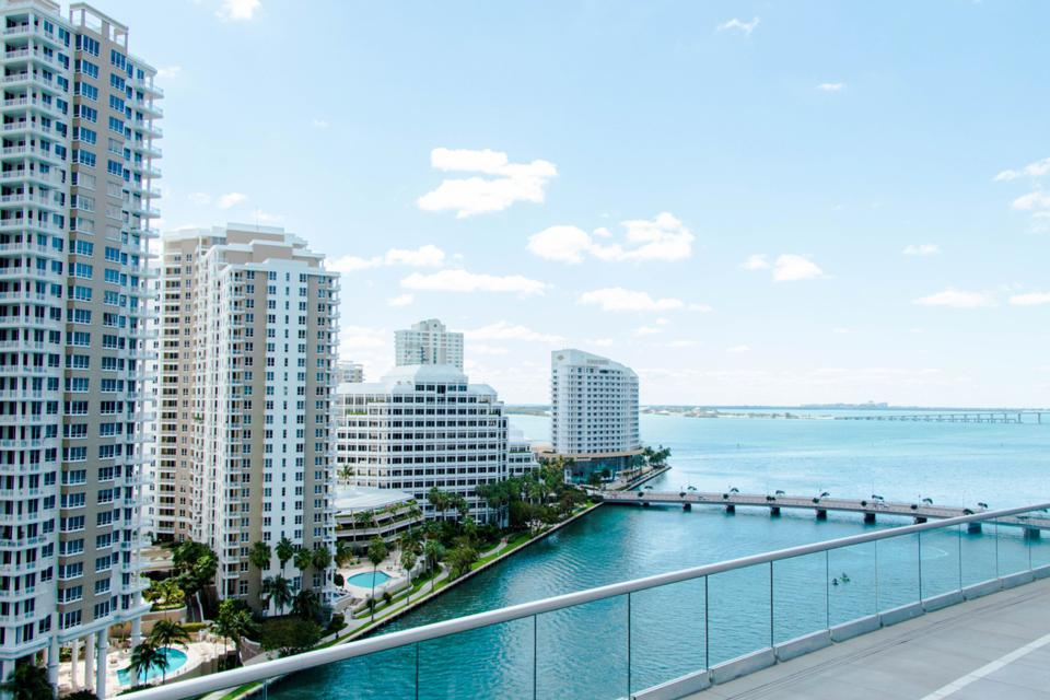 BRICKELL, MIAMI - View from the pool deck at W Miami