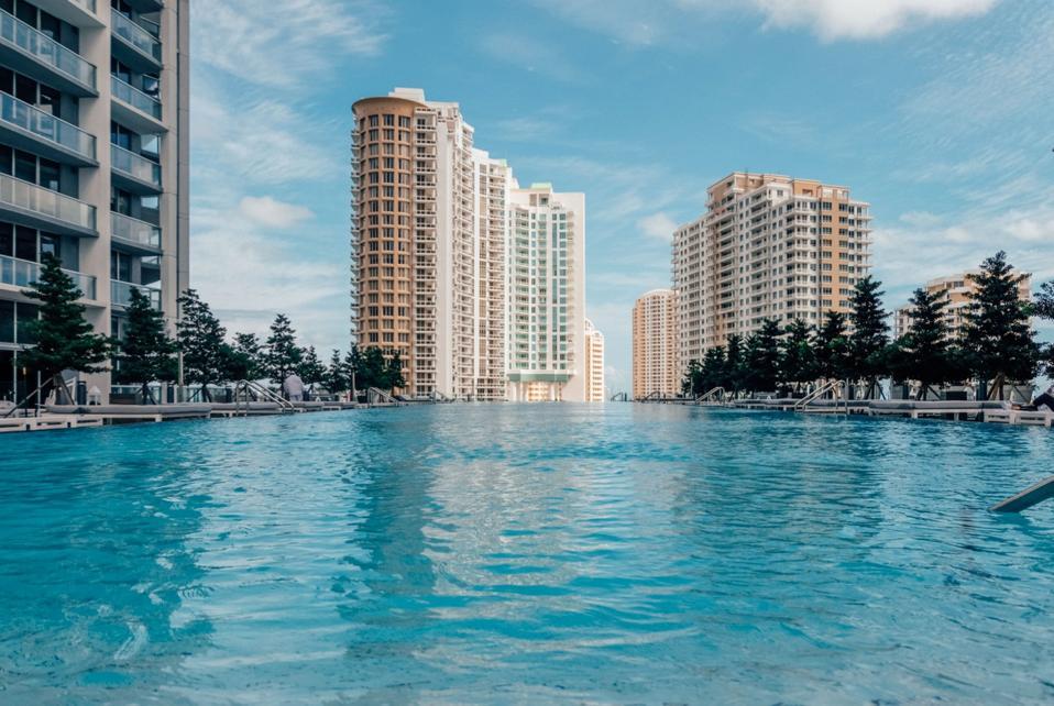 BRICKELL, MIAMI - View of the pool at W Miami