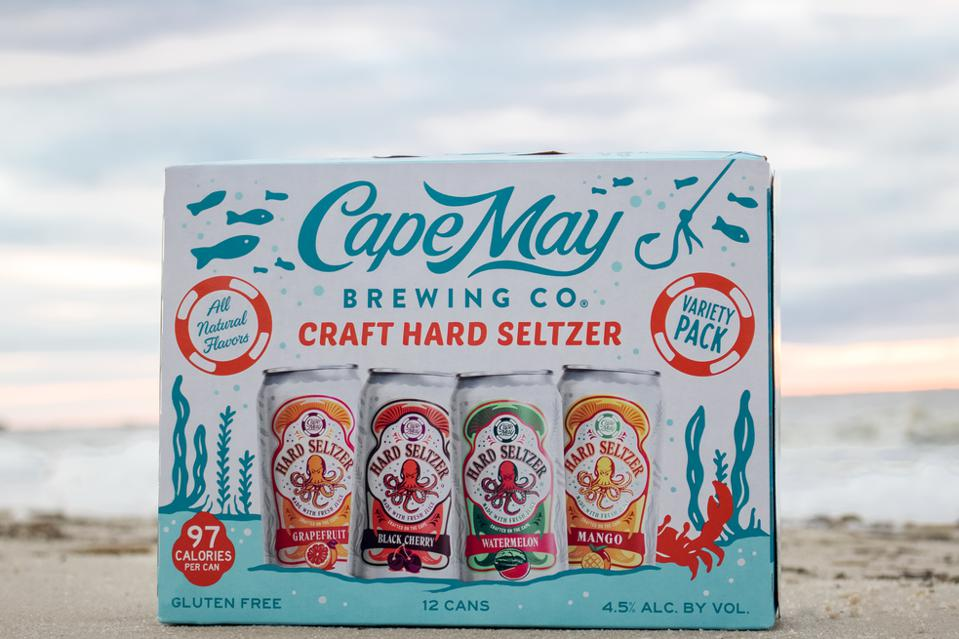 A pack of Cape May Brewing's Craft Hard Seltzer