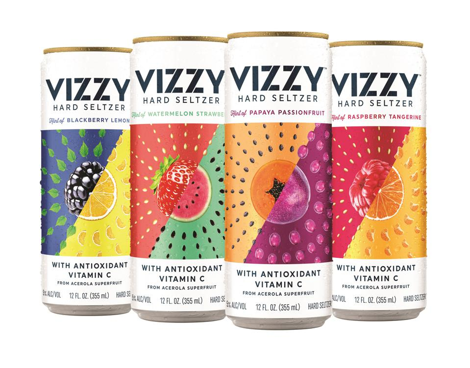 Cans of Molson Coors' new Vizzy Hard Seltzer flavors