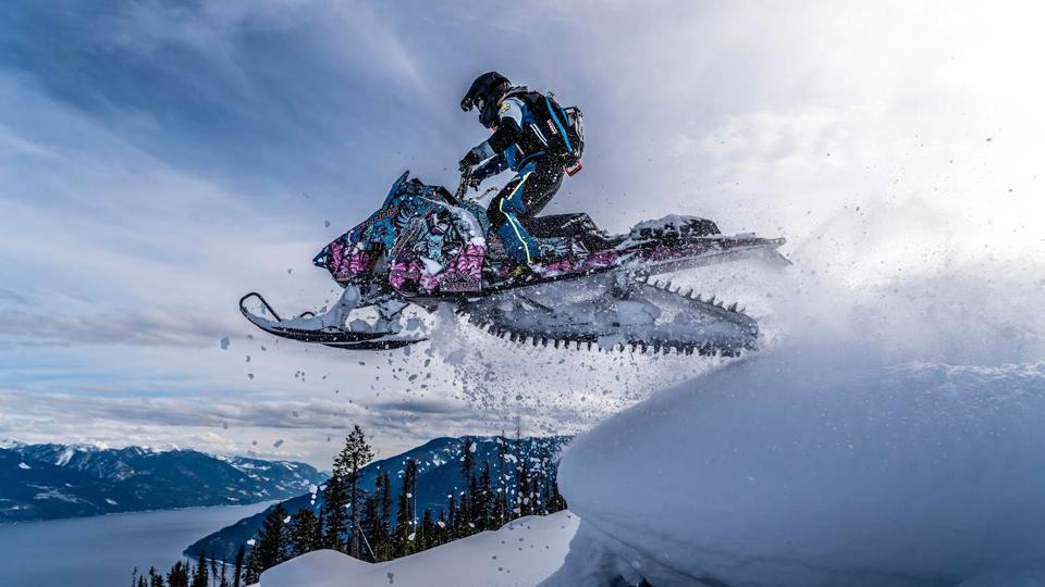 Polaris snowmobiles use the latest in adventure vehicle technology to create a safe and controlled ride