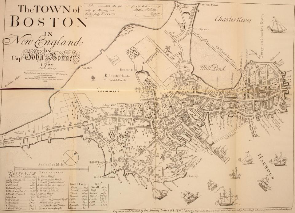 1722 Boston City Map