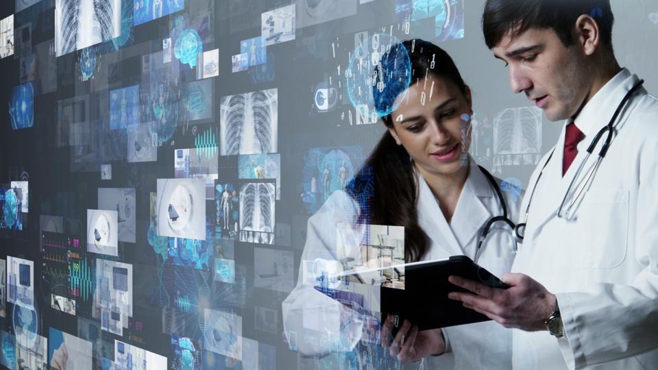Medical technology concept. Electronic medical record. Telemedicine.