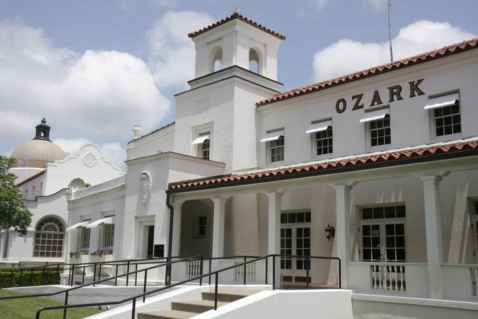 Ozark Bath House exterior.