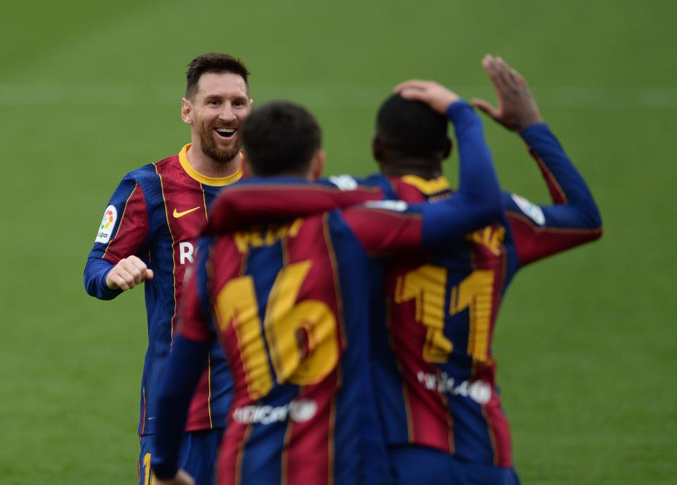 Led by Lionel Messi, FC Barcelona still believe they can do the double in Spain.