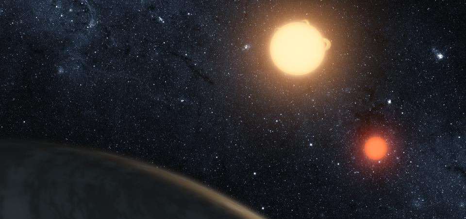 Artist's concept illustrating Kepler-16b.