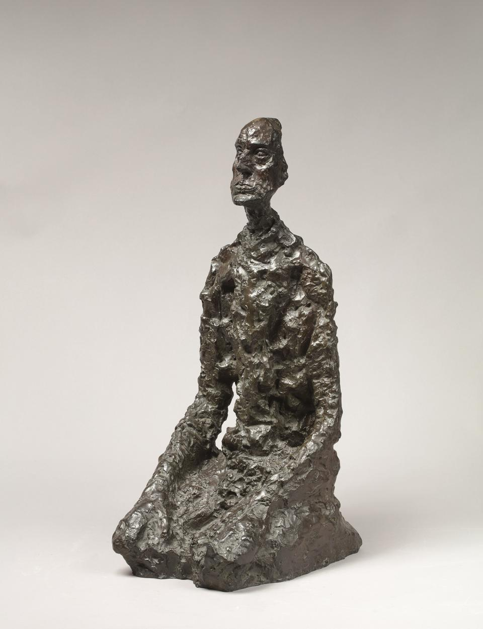 Alberto Giacometti Buste d'homme assis (Lotar III) conceived in 1956-66; this example cast in 1973 bronze 25 1/8 inches 63.8 cm.