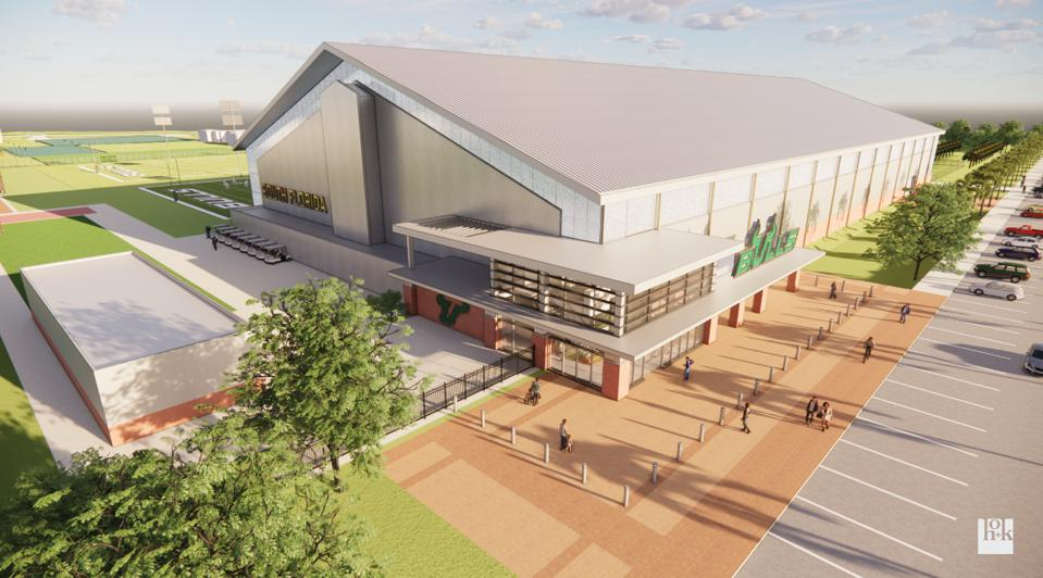 A rendering of the University of South Florida's performance center.