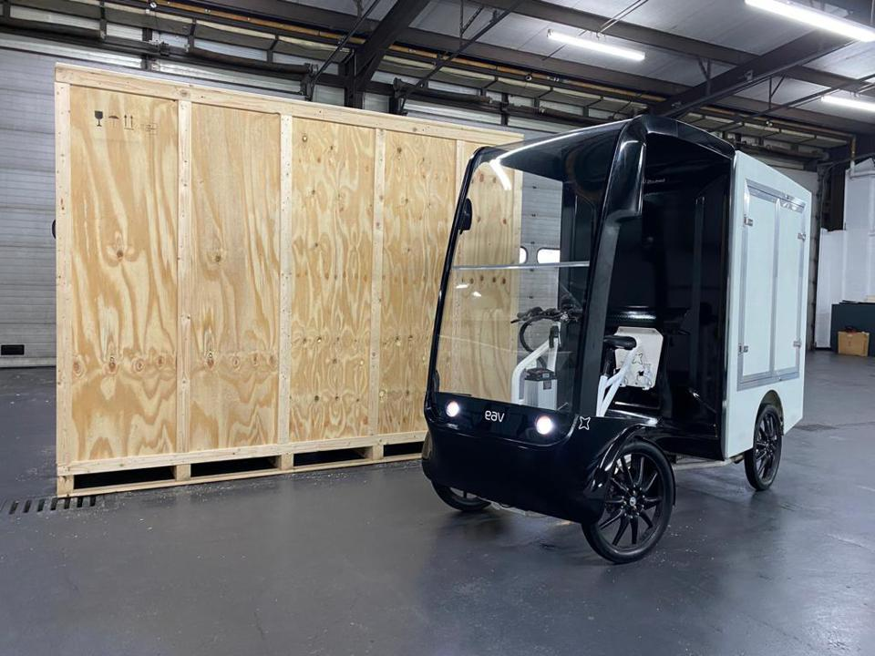 Cargo ebikes are designed to carry loads up to about 330 pounds.
