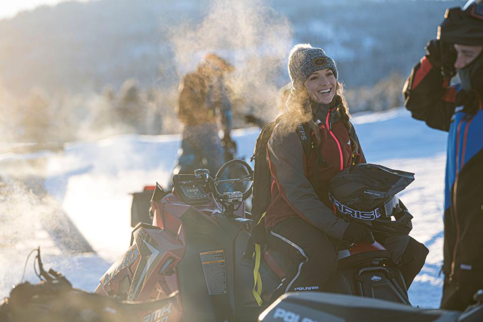 Amy David is one of the pioneers in women's empowerment in the sport of off road snowmobiling