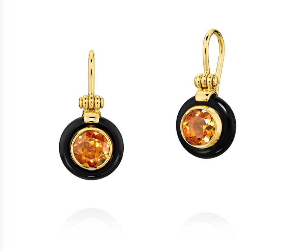 Chakra Frame Citrine Orange earrings