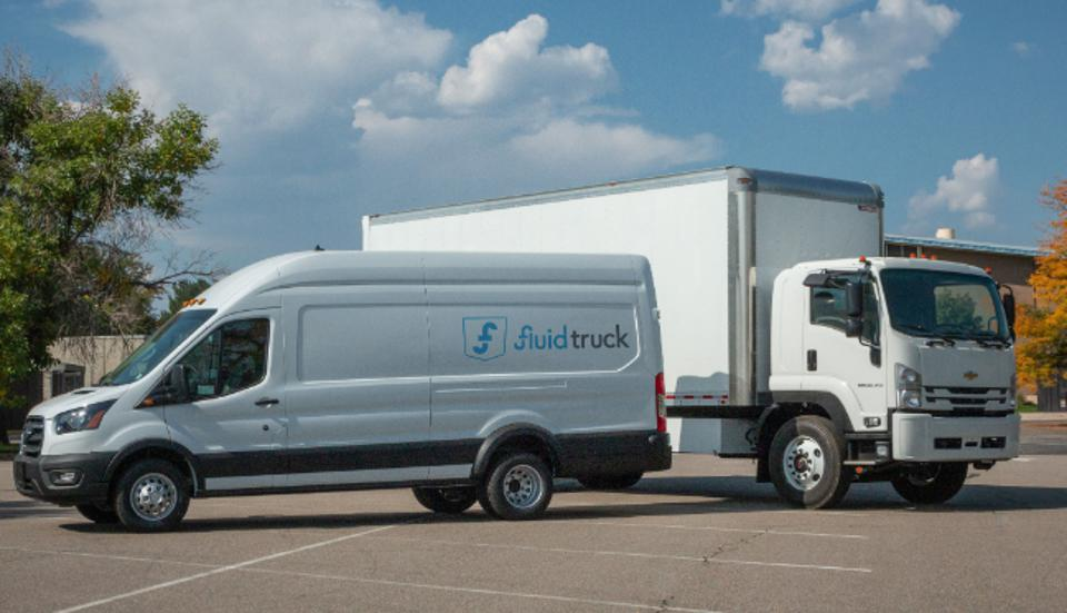 EV trucks are Ford E-450 Class 4 trucks and Lightning Electric HINO 268 Class 6 trucks.