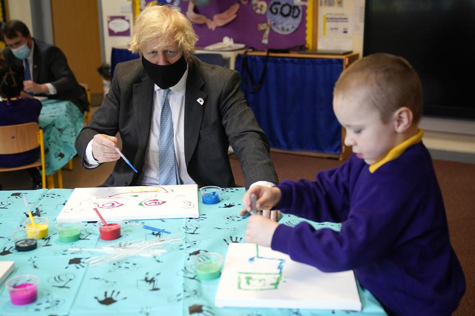 British PM Visits School In Stoke-On-Trent Ahead Of Reopening