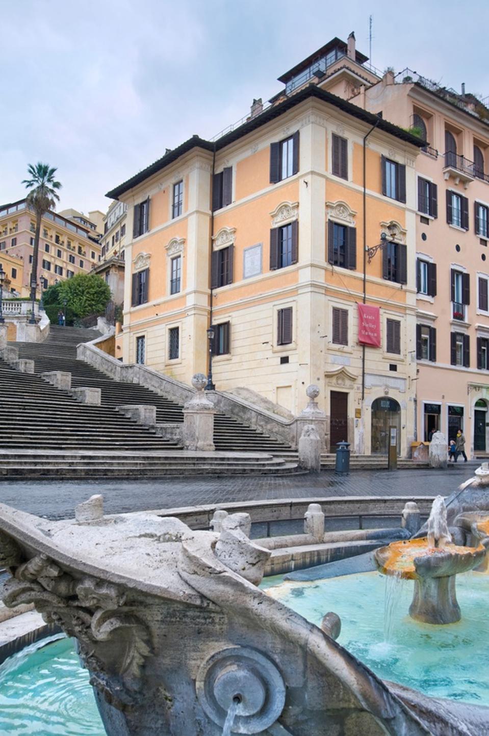 Piazza Di Spagna. Keats-shelley Memorial House. Rome. Italy