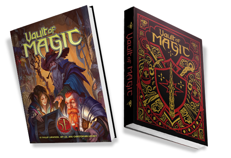 The regular and limited edition versions of Vault of Magic from Kobold Press.