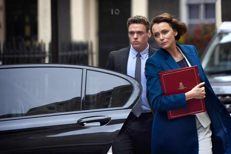 Richard Madden and Keeley Hawes star in 'Bodyguard' on Netflix.
