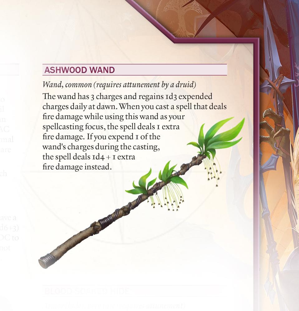 An ashwood wand from Vault of Magic