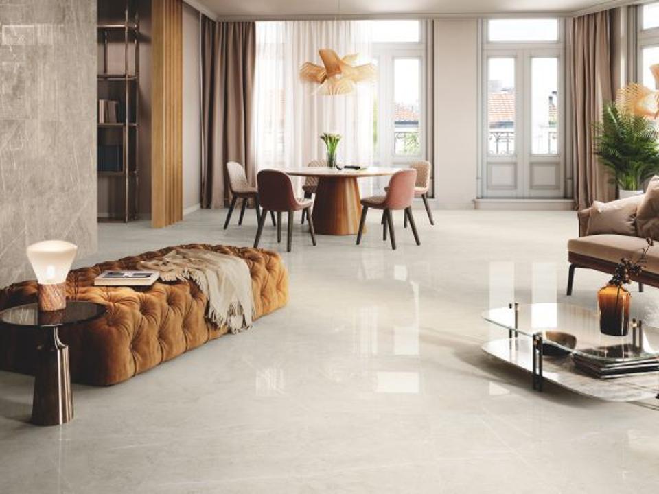 High gloss tile floors