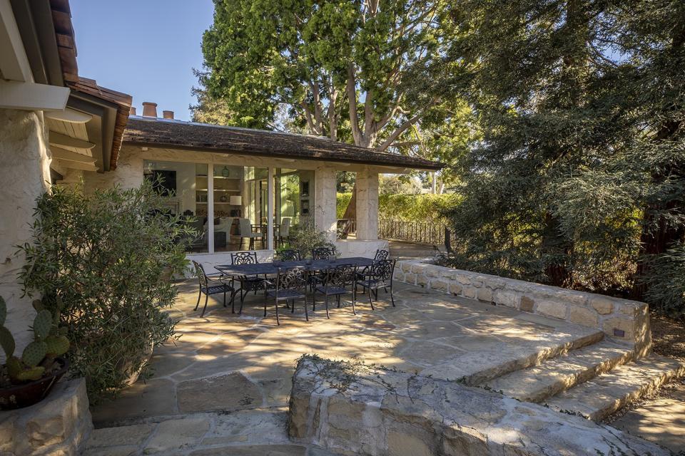 outdoor patio cliff may california ranch house  2069 China Flat Rd santa barbara