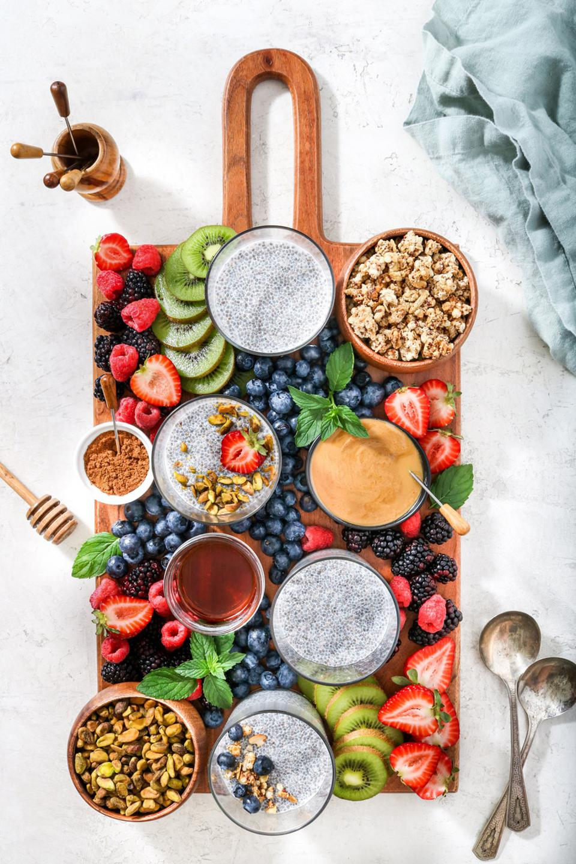 Chia Pudding Parfait Board