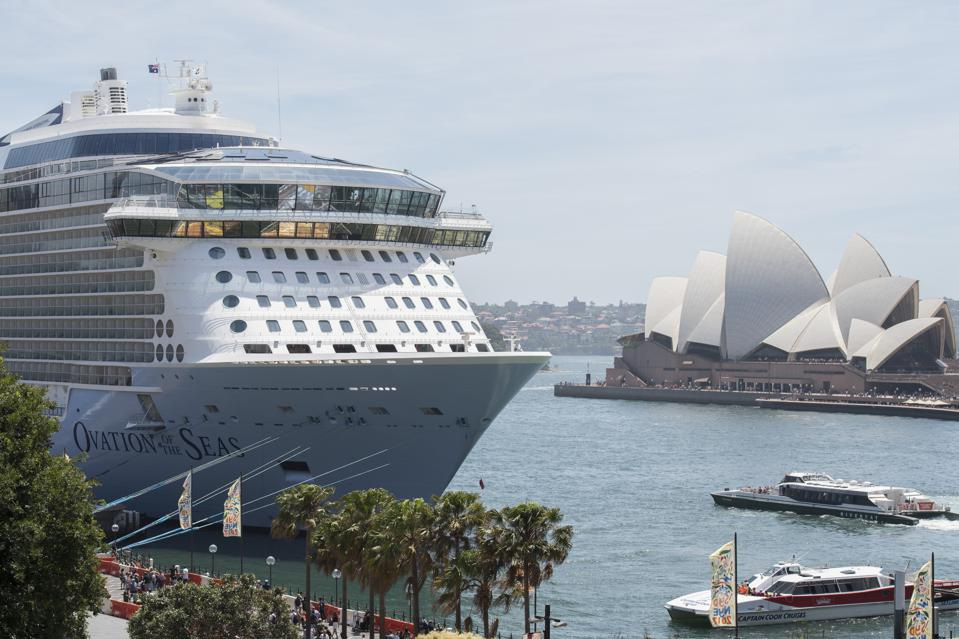 Royal Caribbean cruise ship, Ovation of the Seas, berthed in Sydney Harbour