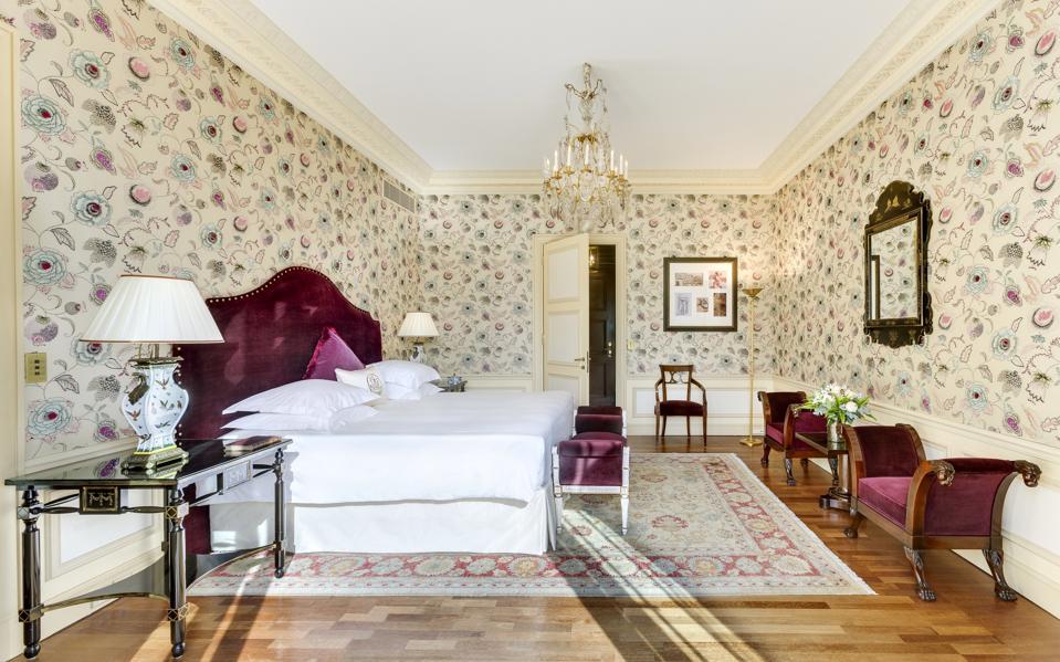 A luxurious bedroom suite at  Hotel MetropoleMonte-Carlo.