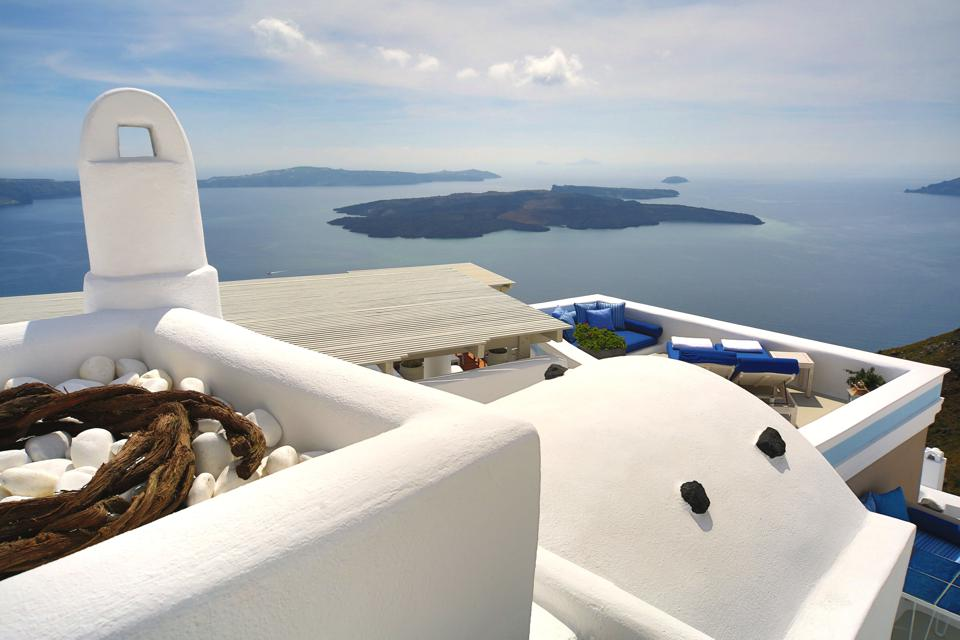 Cycladic Architecture at Iconic Santorini in Greece.