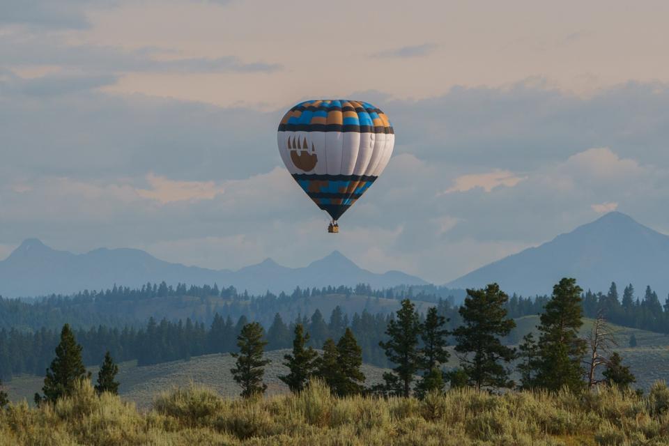 A hot air balloon ride at Resort at Paws Up.