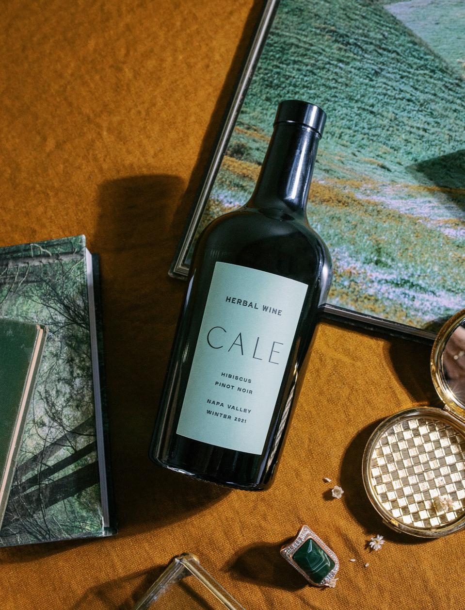 A bottle of wine with the label CALE.