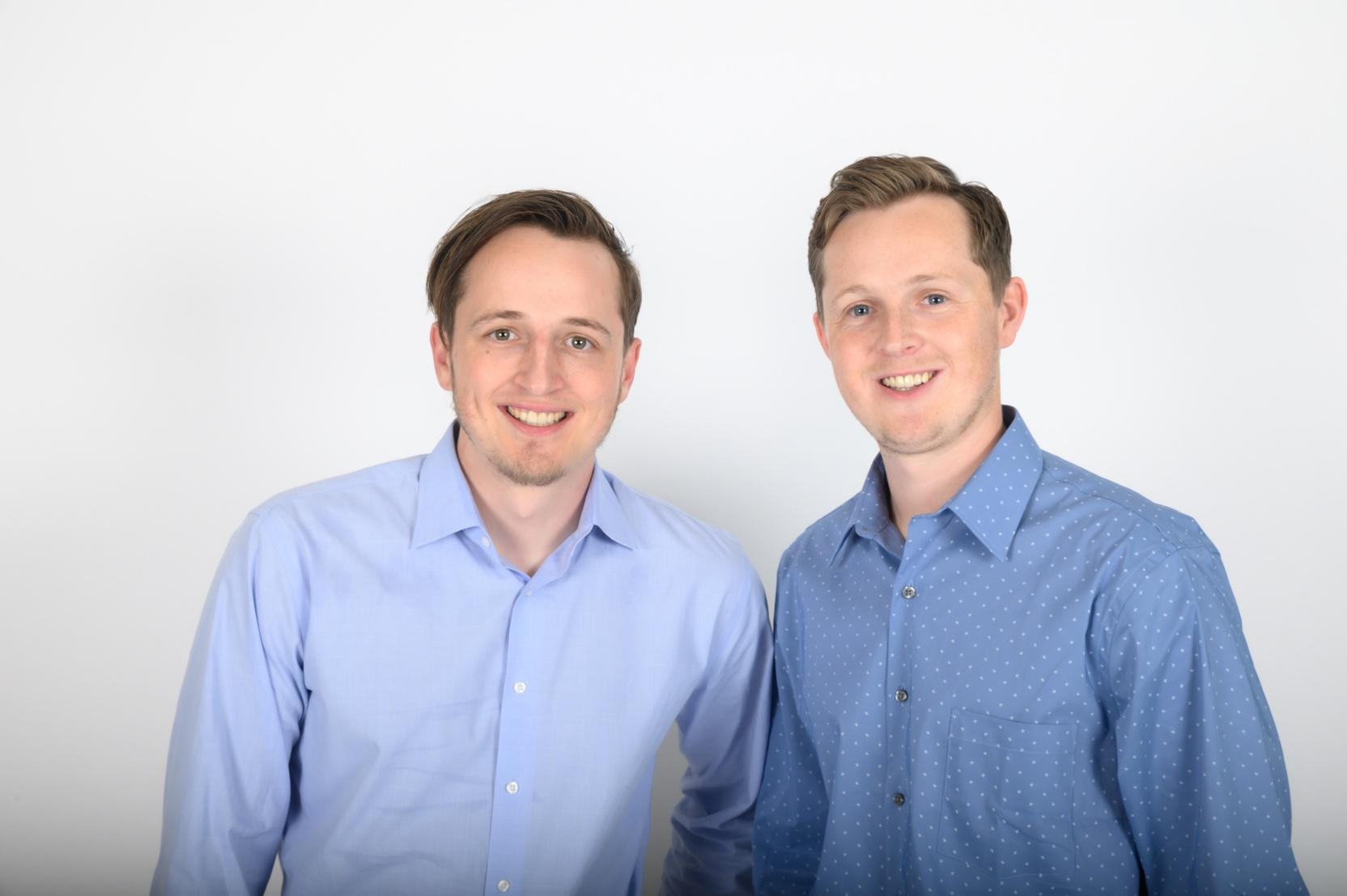 TaxBit cofounders Justin Woodward, left, and CEO Austin Woodward