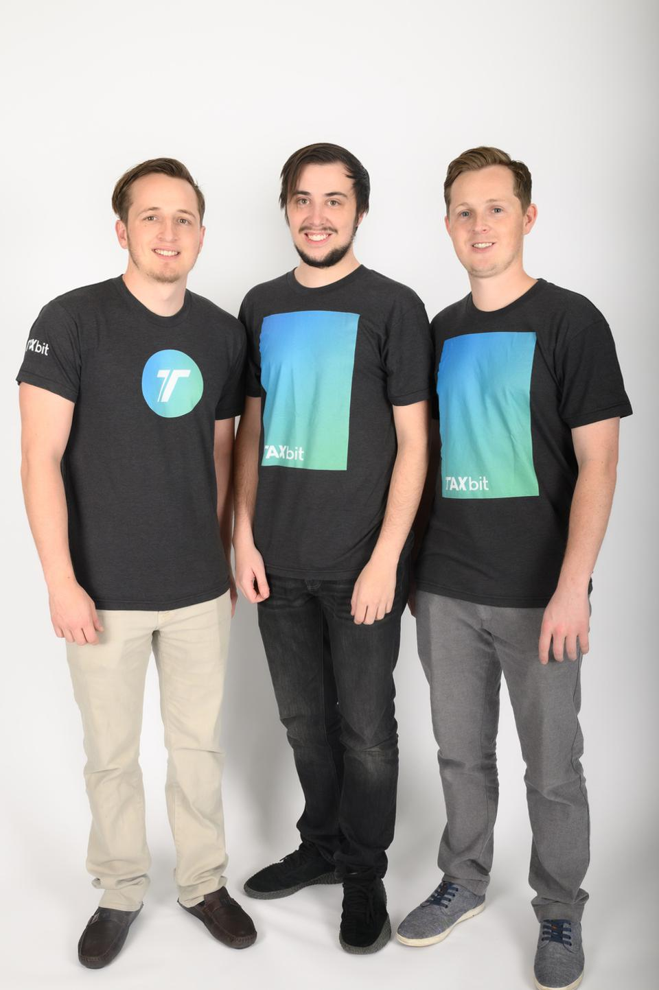 TaxBit cofounders Justin Woodward, Brandon Woodward and Austin Woodward