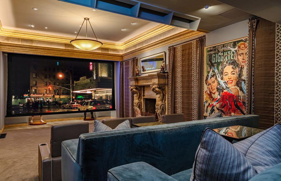 movie theater inside sylvester stallone beverly hills house 30 beverly park terrace