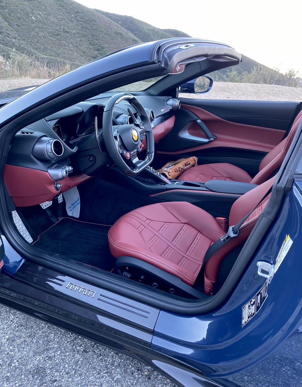 Test car was beautifully dressed, including carbon-fiber door sills and rockers. This is where you want to be.