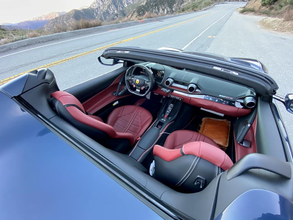 Test car had optional Daytona seats, which are comfortable for long drives.