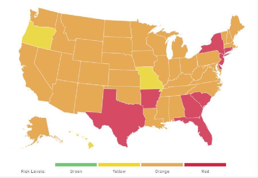 Covid new cases in USA