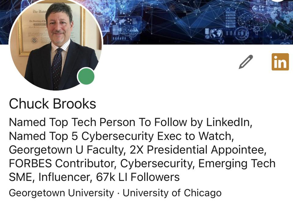 Chuck Brooks on LinkedIn