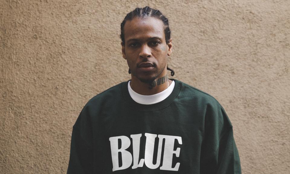G Perico thinks in his Blue Tshirt line.