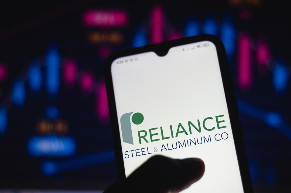 In this photo illustration the Reliance Steel and Aluminium...