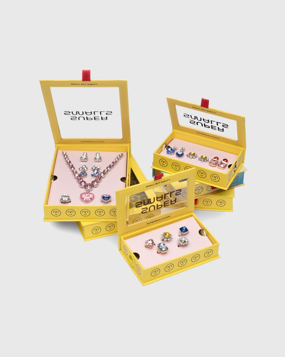 A selection of Super Smalls toy jewelry box sets