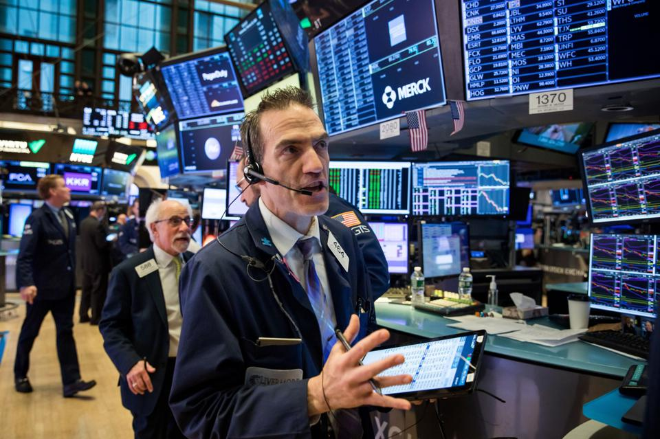 Trading At The NYSE As U.S. Stocks Fluctuate Amid Coronavirus Concern