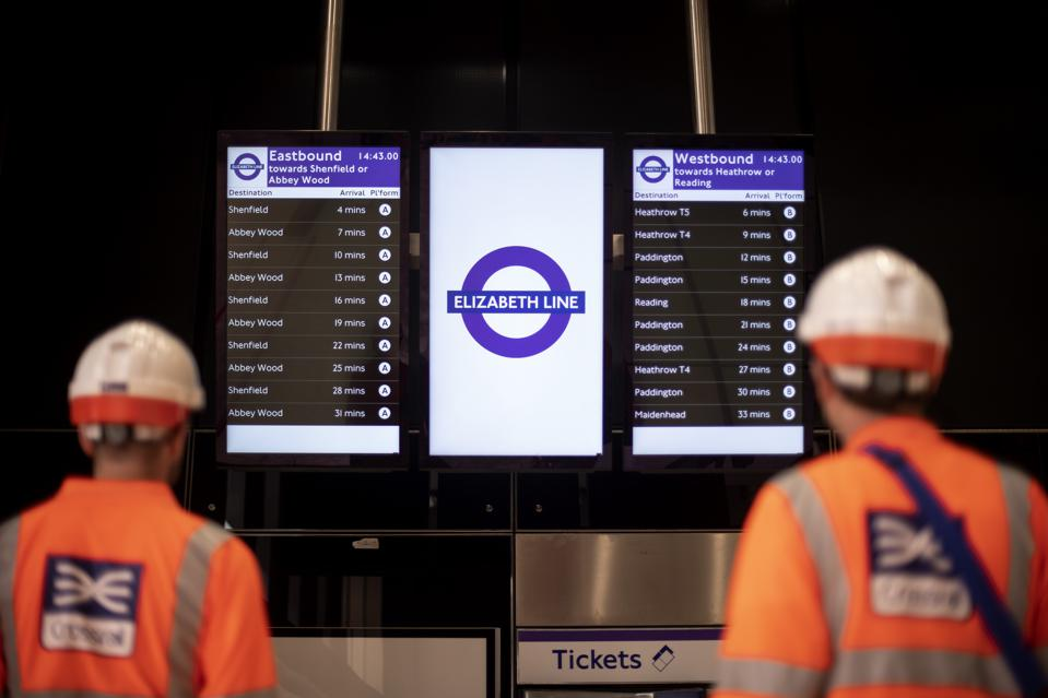 The new Elizabeth Line is an ongoing infrastructure project across London.
