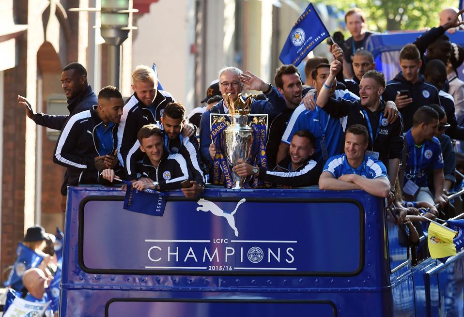 Leicester City Premier League bus parade