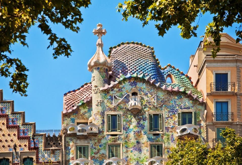 Gaudi's Casa Batllo Barcelona Spain