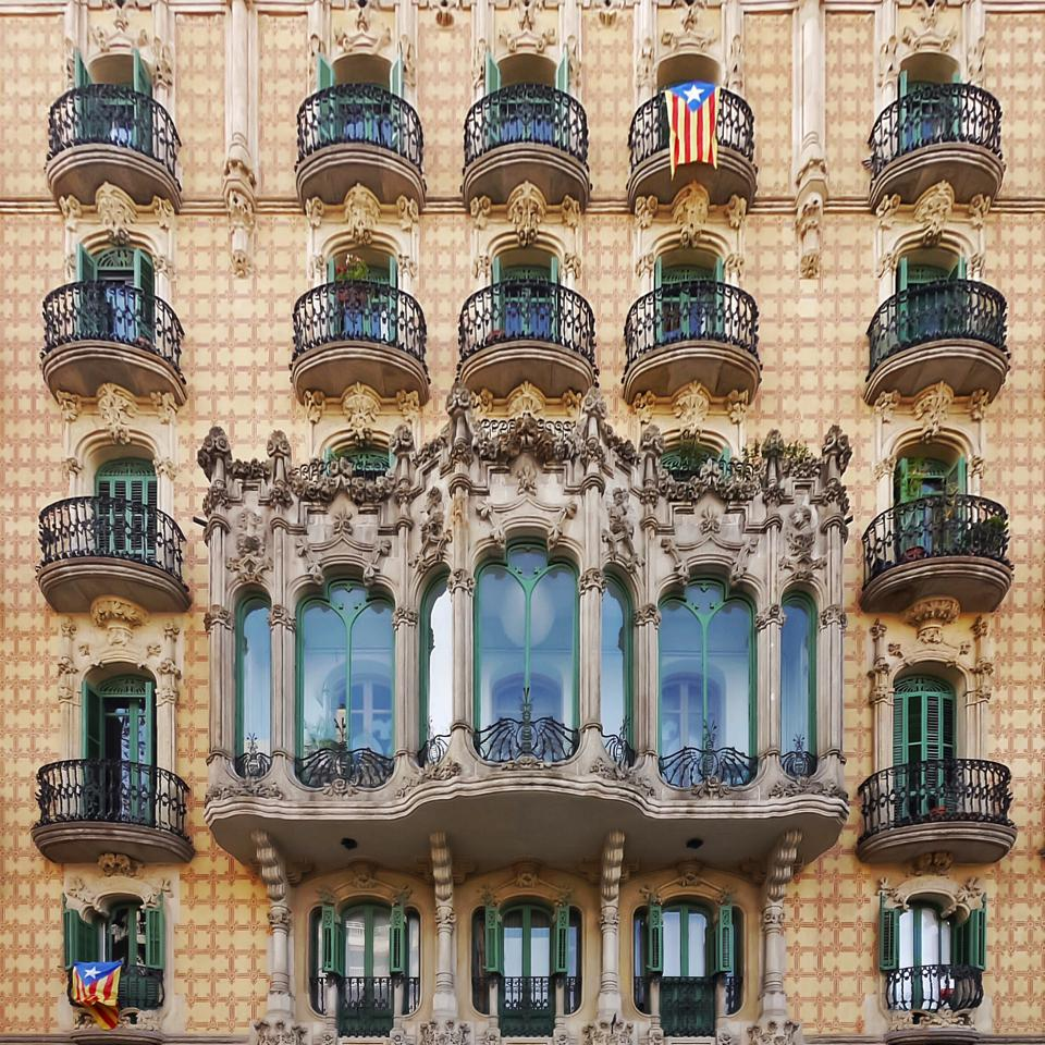 Cases Ramos facade Barcelona Spain.
