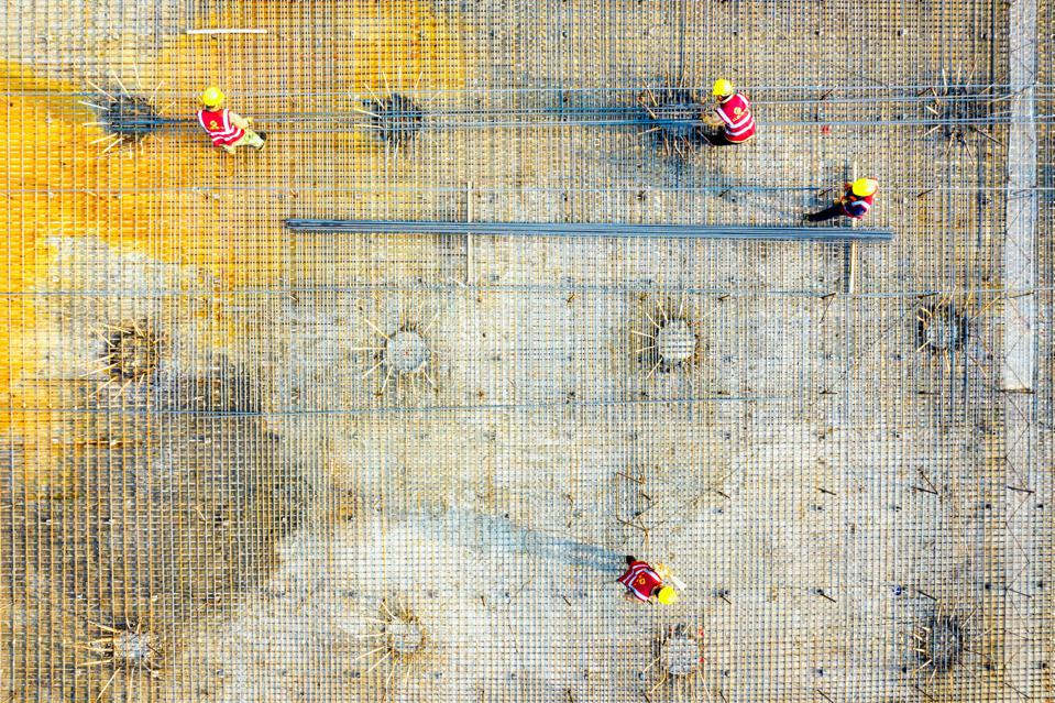 Sony World Photography Awards: photo of building site in Zhejiang China, using a drone.