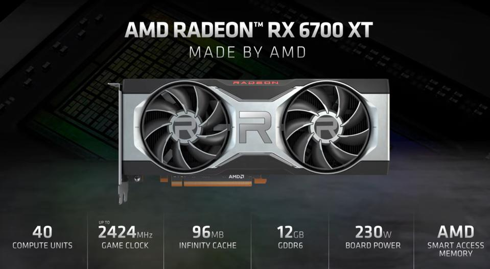 AMD's RX 6700 XT is focussing on 2560 x 1440 gaming at a sub $500 price point, with its main competitor being the RTX 3060
