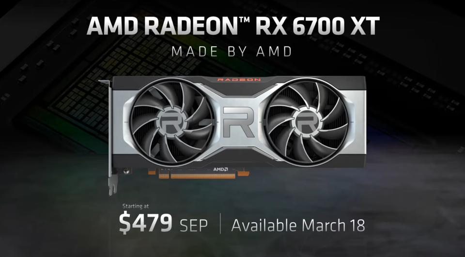 AMD's RX 6700 XT will cost $479 and be available from March 18th via AMD.com and the usual retailers